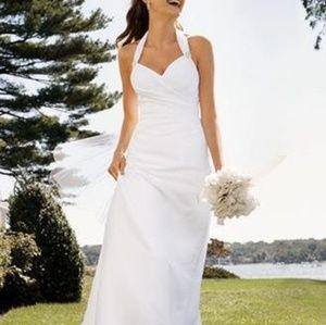 Halter Neckline Shealth Wedding Dress